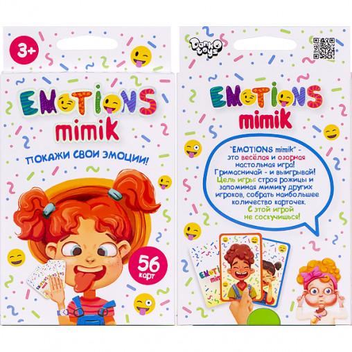 """Карточная игра """"Emotions Mimik"""" русс. EM-01-01 ДТ-МН-14-17"""