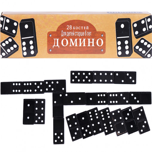 Домино черное №1 4806Ч