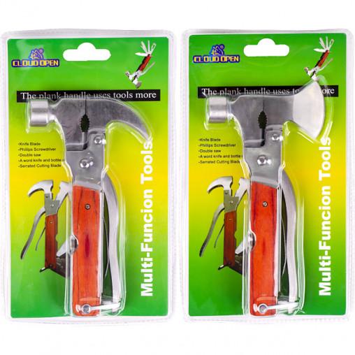 Нож карманный многофункциональный металл Молоток-Гвоздодер 16,5*9*2,5см A34