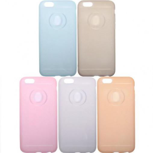 Чехол силикон матовый с глиттером на iPhone6
