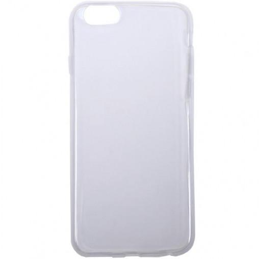 Чехол силикон прозрачный с тиснением на iPhone6+