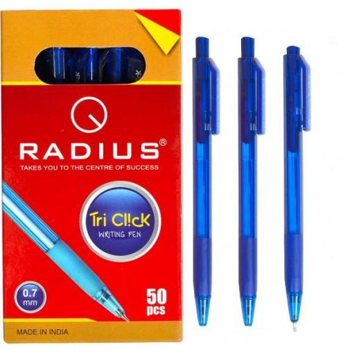 """Ручка """"Tri Click"""" RADIUS тонированная 50 штук, синяя 778262"""