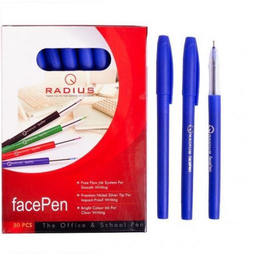 """Ручка """"FaсePen"""" RADIUS 50 штук, синяя 777890"""