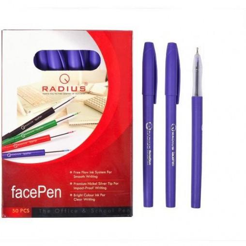 """Ручка """"FaсePen"""" RADIUS 50 штук, фиолетовая 777890"""