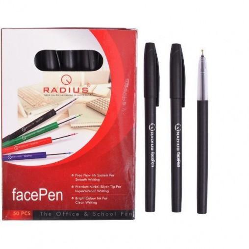"""Ручка """"FaсePen"""" RADIUS 50 штук, черная 777890"""