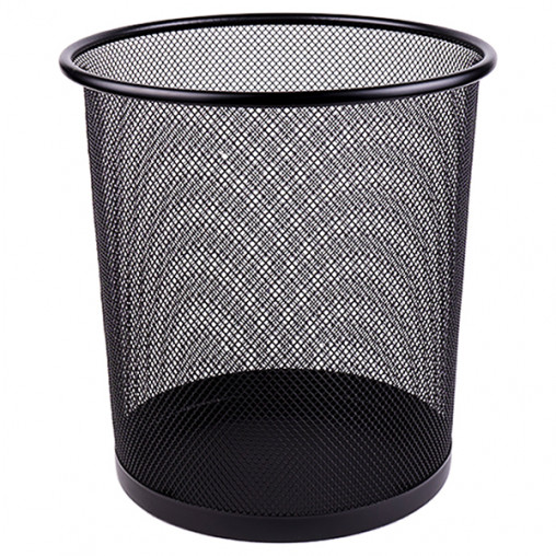 Корзина металлическая сетчатая 5002 black, черная 26*22*28см