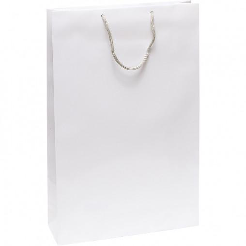"""Пакет цветной большой """"Белый"""" вертикальный 39х25х8,5 см 5007"""