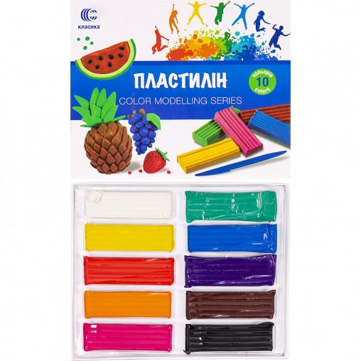 "Пластилин ""Классика-new"" 10 цветов, 200 г ""С"""