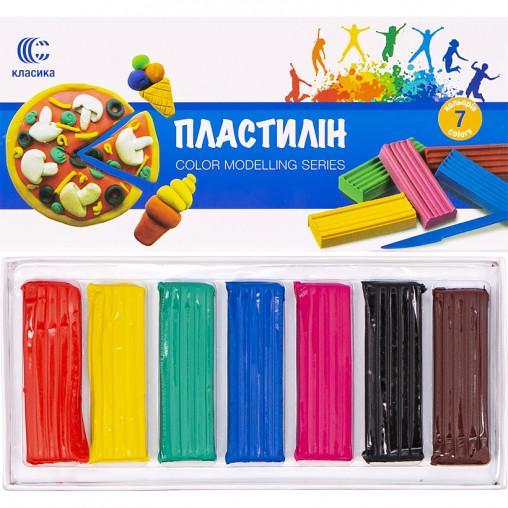 "Пластилин ""Классика-new"" 7 цветов, 140 г ""С"""
