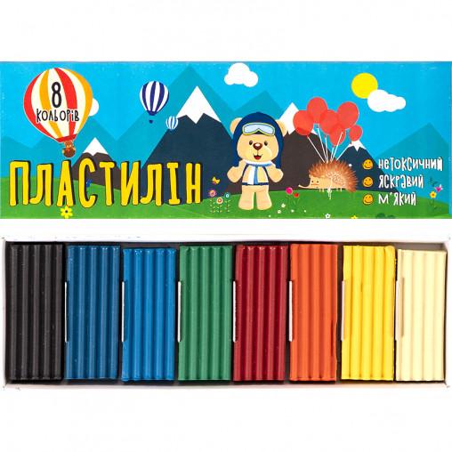 """Пластилин """"Мішутка"""" 160 г 8 цветов """"Mizar"""" ПЛ-005-МВ"""