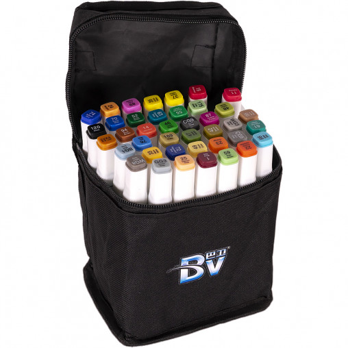 Набор скетч-маркеров 40 цветов BV800-40 в сумке