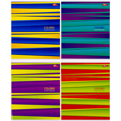 Тетрадь цветная 96 листов, линия 3009л
