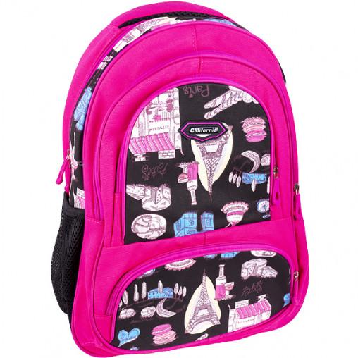 "Рюкзак California L ""Девочки"" розовый 43*30*13см 980560"