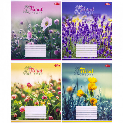 Тетрадь цветная 18 листов, линия 3032 D