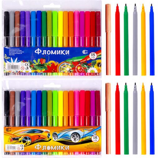 """Фломастер 18 цветов """"Фломики"""" """"C"""" CR550-18"""