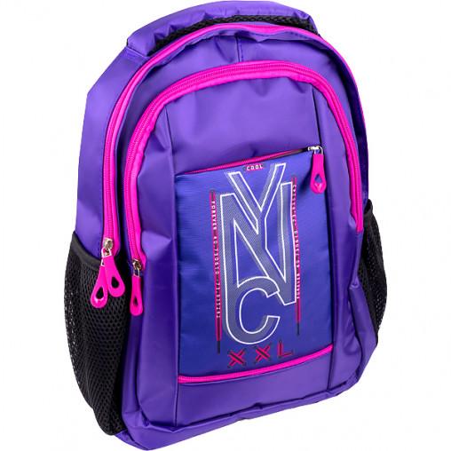 """Рюкзак California S """"NYC"""" фиолетовый 38*27*10см 980323"""