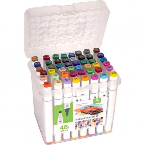 Набор скетч-маркеров 48 цветов 2019-48 в пластиковом боксе