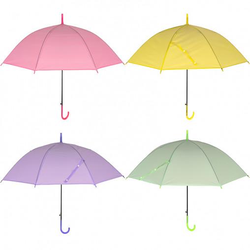 Зонтик - трость детский цветной однотонный Х2105/96