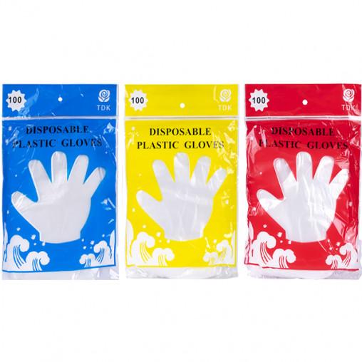 Перчатки одноразовые полиэтиленовые 100 шт. Х4-05