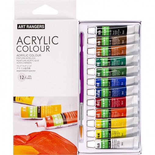 """Краски 6мл """"Art Rangers"""", 12 цветов """"Acrylie"""" EA1206C"""