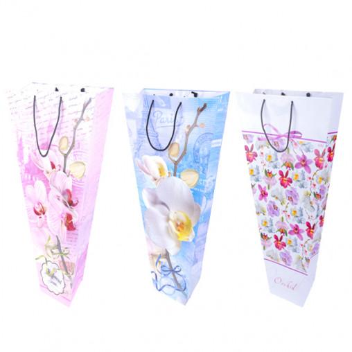 """Пакет цветной для букетов """"Орхидея"""" 53х27х12 см 8001"""