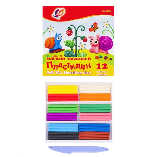 """Пластилин """"Кроха"""" 12 цветов, 180 г """"Луч"""" 1484-08/45344"""