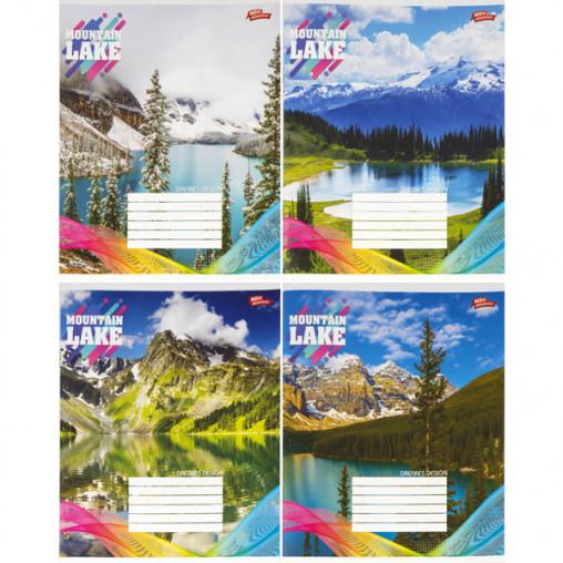 Тетрадь цветная 18 листов, линия 2668л